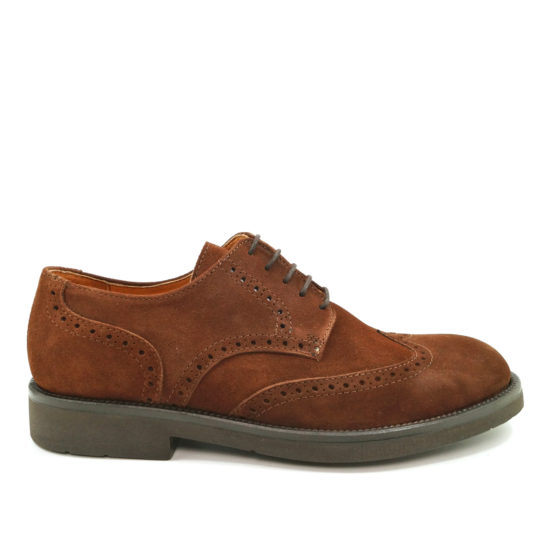 Pielsa Yale - Zapatos brogue en ante marrón